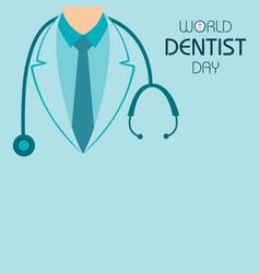 world dentist day design 6 march vector image