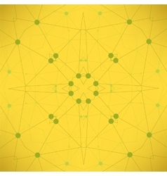Yellow Particlem Background Molecule Structure vector image
