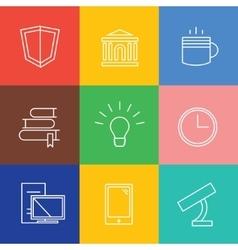 Education logo icons set Graduation vector image