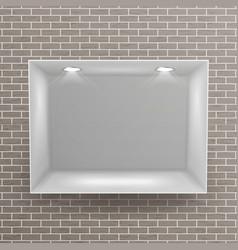 empty niche realistic brick wall clean vector image vector image