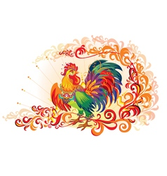 Fire Decor Rooster vector image