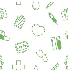 Medical icons seamless background pattern vector image vector image