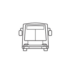 bus icon public transport symbol graphics vector image vector image