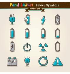 Hand Draw Power Symbols vector image