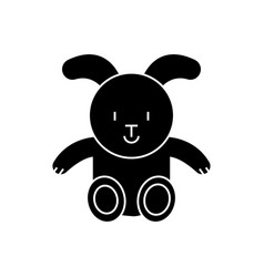 rabbit icon black sign on vector image