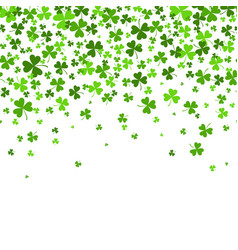saint patrick s day border with green four and vector image vector image