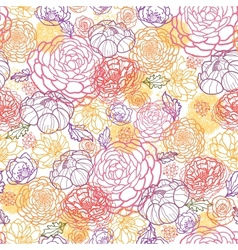 Sweet flowers seamless pattern background vector image vector image