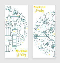 cocktail banner with martini vector image vector image