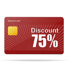 discount card sale percent vector image