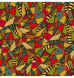 Geometric ethnic pattern vector image vector image
