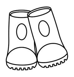 outline safety boot protective work sign vector image