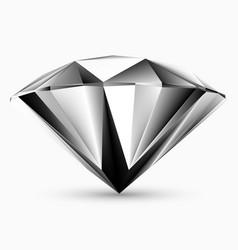 shiny white diamond vector image vector image