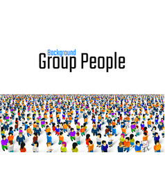 A crowd people on a white background business vector