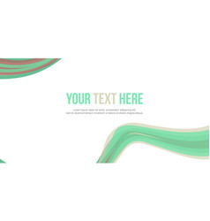 Abstract header green wave design collection vector