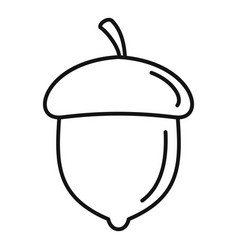 Acorn nut icon outline style vector