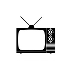 antique television icon concept vector image