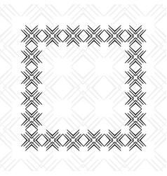 Art deco border frame vector
