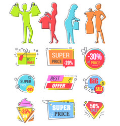 best choice sale discount in shop reduction banner vector image