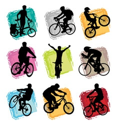 bicycle set vector image