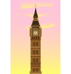 Big Ben at Dawn vector image