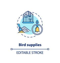 Bird supplies concept icon vector