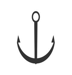 black anchor icon sea flat symbol vector image