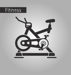 Black and white style icon bicycle exercise vector
