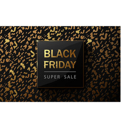 black friday sale poster leopard pattern design vector image