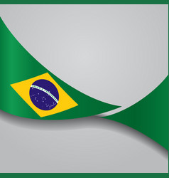 Brazilian wavy flag vector