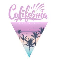 california beach t-shirt print vector image