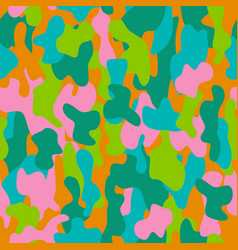 camouflage seamless pattern in a pink blue vector image