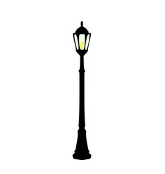 Cartoon black streetlight vector