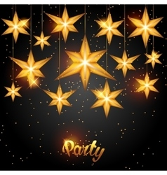 Celebration party background with starsornament vector