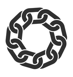 chain link round circle logo icon shape sign vector image
