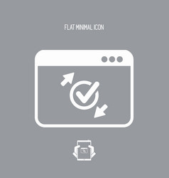 Check transfer window - flat minimal icon vector