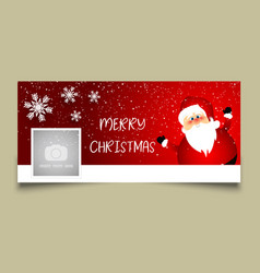 christmas timeline cover design vector image