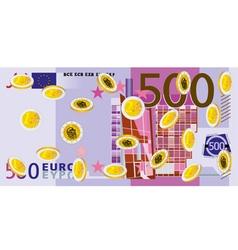 Coins Rain euro vector