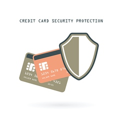 credit cards protection vector image vector image