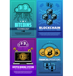 cryptocurrency bitcoin crypto money technology vector image