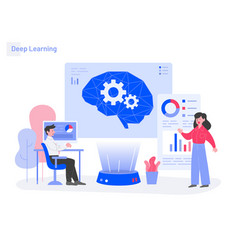 deep learning concept modern flat design concept vector image