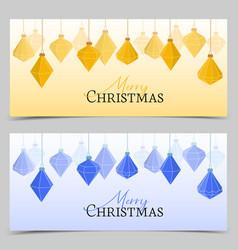 diamond christmas balls vector image