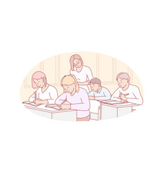 Education teaching school concept vector