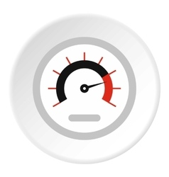 Exclusive speedometer icon flat style vector