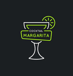 For bar menu alcoholic cocktail vector