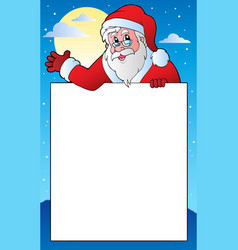 frame with santa claus theme 1 vector image
