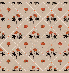 gentle flower seamless pattern vector image