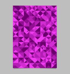 Geometrical seamless purple triangle mosaic vector