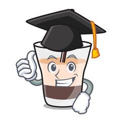Graduation white russian character cartoon vector