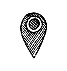 Hand drawn coordinates location point gps map vector