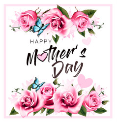 happy mothers day greeting background vector image